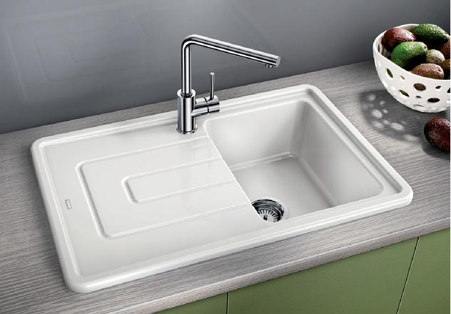 Blanco Tolon 45S Ceramic White Sink